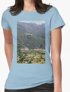 mountain landscape Womens Fitted T-Shirt