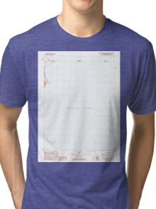 USGS TOPO Map California CA West of Willow Ranch 295729 1990 24000 geo Tri-blend T-Shirt