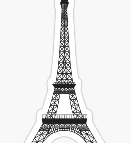 Grey Eiffel Tower Sticker