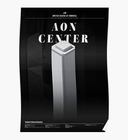 Aon Center Black Edition Poster
