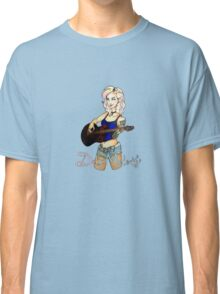 Delia Melody Pin-Up Design by Aliza Crimson Classic T-Shirt