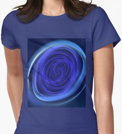 Background in the form of a stylized flower roses Womens Fitted T-Shirt