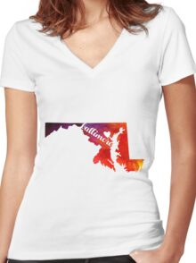 Baltimore Women's Fitted V-Neck T-Shirt