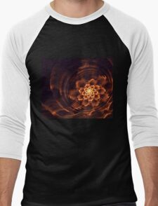 Interesting  abstract background in brown and golden tones  Men's Baseball ¾ T-Shirt
