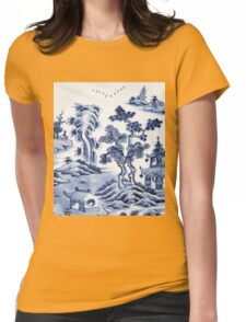 Chinese porcelain Womens Fitted T-Shirt