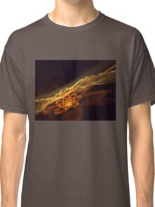 Interesting  abstract background in brown and golden tones  Classic T-Shirt