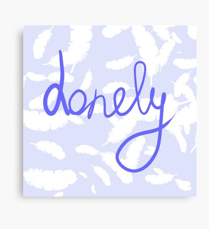 Typography Lonely Canvas Print