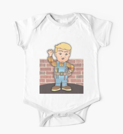 Trump the Builder- Let's Build the Wall One Piece - Short Sleeve