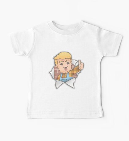 Trump the Builder- I'm Building the Wall Baby Tee