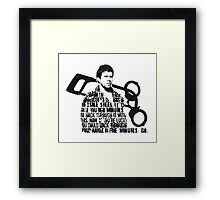 How Mad is Max? Framed Print