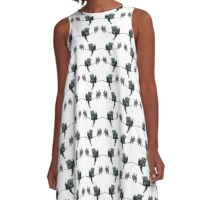 I'm Just a Birdy Too Dragon collage A-Line Dress