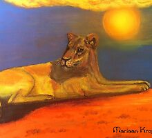 Lioness of the Kalahari by Mariaan M Krog Fine Art Portfolio