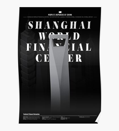 Shanghai World Financial Center Black Edition Poster