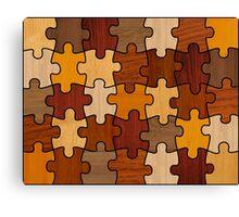 Puzzle Wood V2.0 Canvas Print
