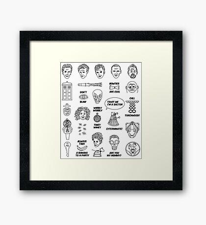 Doctor Who Collective Illustration Framed Print