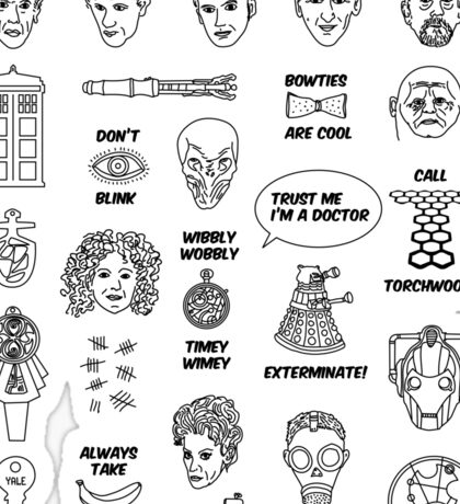 Doctor Who Collective Illustration Sticker
