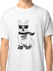 Hipster French Bulldog - Cute Dog Cartoon Character - Frenchie Classic T-Shirt