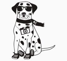 Hipster Dalmatian - Cute Dog Cartoon Character by designedbyn