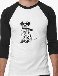 Hipster Dalmatian - Cute Dog Cartoon Character Men's Baseball ¾ T-Shirt