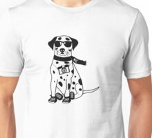 Hipster Dalmatian - Cute Dog Cartoon Character Unisex T-Shirt