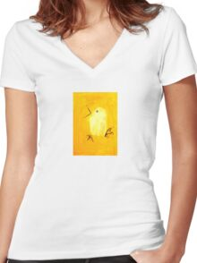 Yellow Canary Women's Fitted V-Neck T-Shirt