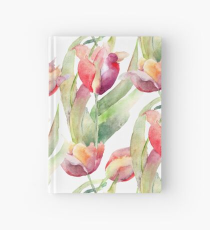 Exotic Painted Tulips Hardcover Journal