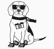 Hipster Beagle - Cute Dog Cartoon Character by designedbyn