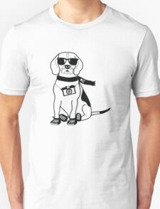 Hipster Beagle - Cute Dog Cartoon Character T-Shirt