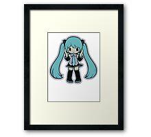 CHIBI MIKU HATSUNE Framed Print