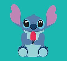 Cute Stitch with ice cream by LikeYou