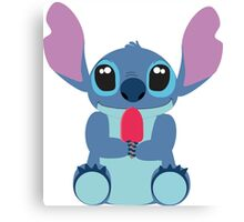 Cute Stitch with ice cream Canvas Print
