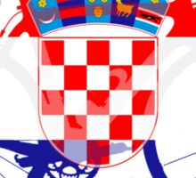 Bike Flag Croatia (Big) Sticker