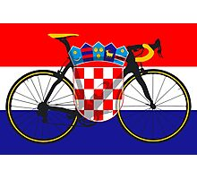 Bike Flag Croatia (Big - Highlight) Photographic Print