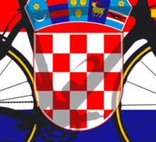Bike Flag Croatia (Big - Highlight) Sticker