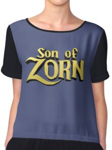 Son of Zorn Fan Art Print Design on Bitter Blue Chiffon Top