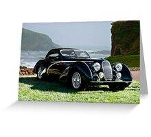 1938 Talbot Lago T150 C Speciale Tear Drop Coupe II Greeting Card