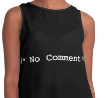 No Comment! Contrast Tank