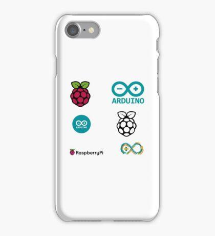raspberry pi arduino sticker set iPhone Case/Skin