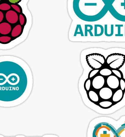 raspberry pi arduino sticker set Sticker