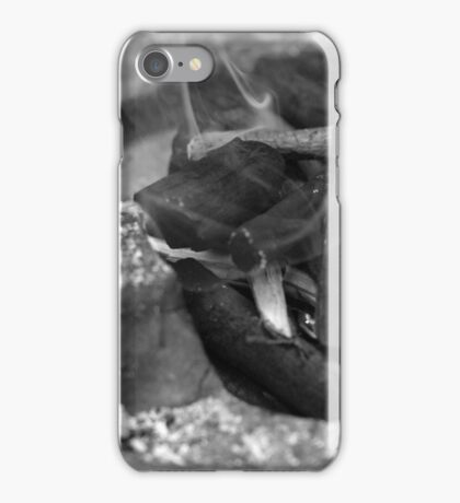 CHARCOAL FIRE IN STOVE iPhone Case/Skin