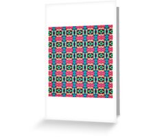 Colorful Pattern of Symmetry Greeting Card