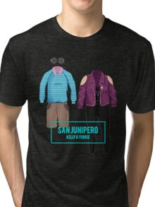 "Kelly & Yorkie ""San Junipero"" Tri-blend T-Shirt"