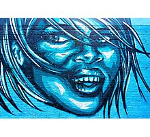 Blue Lady Photographic Print