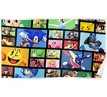 Super Smash Bros. For Nintendo 3DS/ Wii U Poster Brick Pattern Poster