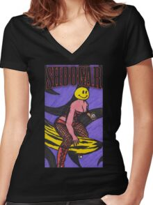Shoogar - When The Going Gets Tough Women's Fitted V-Neck T-Shirt