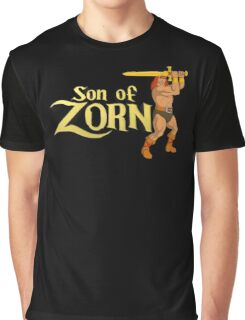 Son of Zorn Fan Art Print Design on Black Graphic T-Shirt