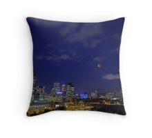 Lunar Eclipse - Perth Western Australia  Throw Pillow