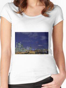 Lunar Eclipse - Perth Western Australia  Women's Fitted Scoop T-Shirt
