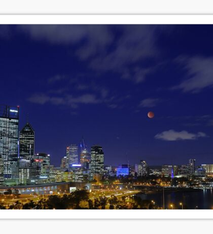 Lunar Eclipse - Perth Western Australia  Sticker