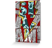 Shazam! Lightning strike Greeting Card